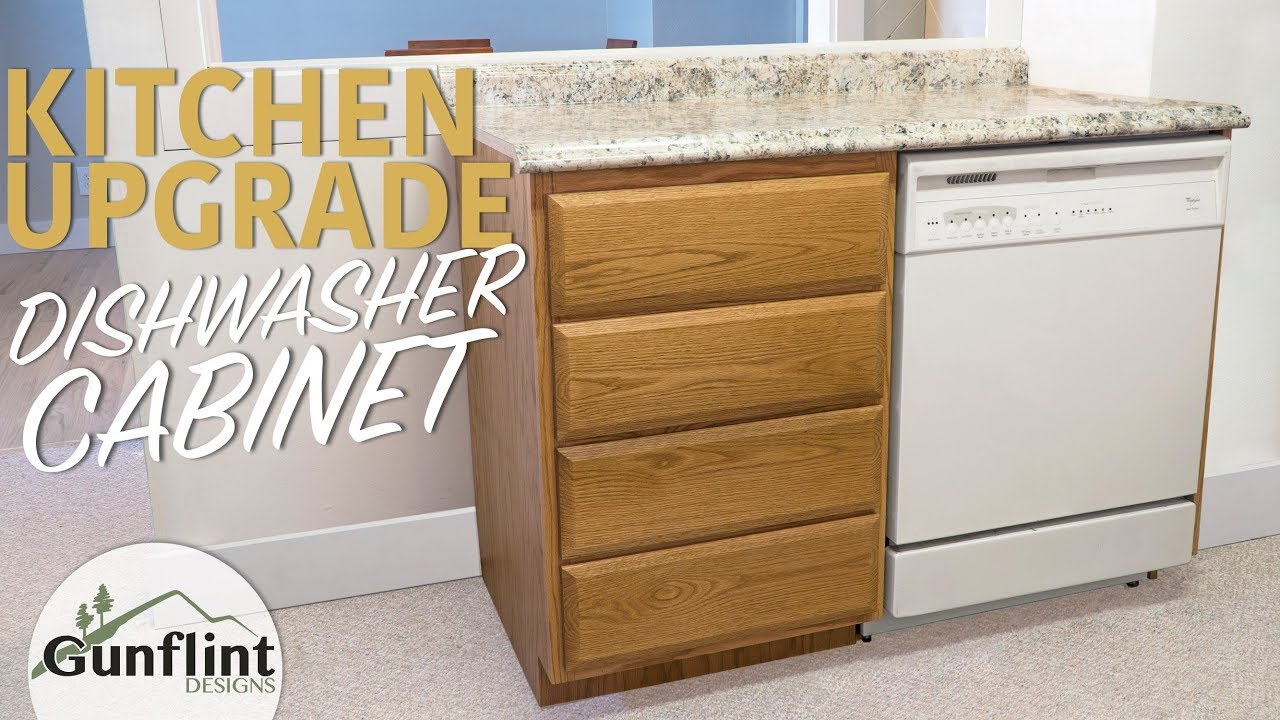 Awesome Making A Kitchen Dishwasher Cabinet