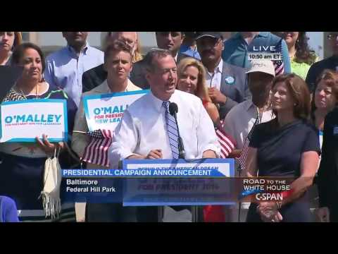Governor Martin O'Malley's Presidential Announcement