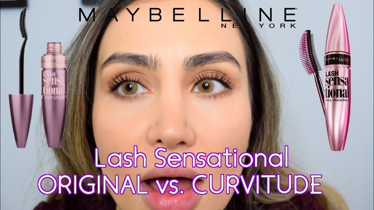 428d8f4f5a0 MAYBELLINE LASH SENSATIONAL | CURVITUDE vs. ORIGINAL | COMPARISON & DEMO