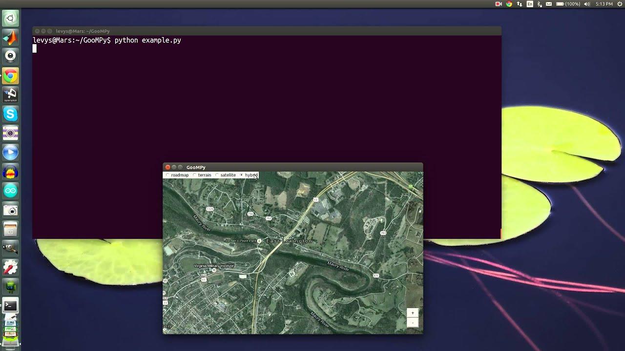 GooMPy: Interactive Google Maps for Python