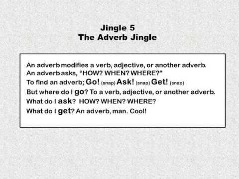 Jingle 5 - The Adverb Jingle - 1st and 2nd Grade