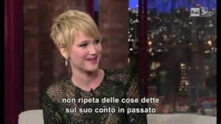 Jennifer Lawrence al David Letterman 20-11-2013 Parte 1 [Fandub ITA]