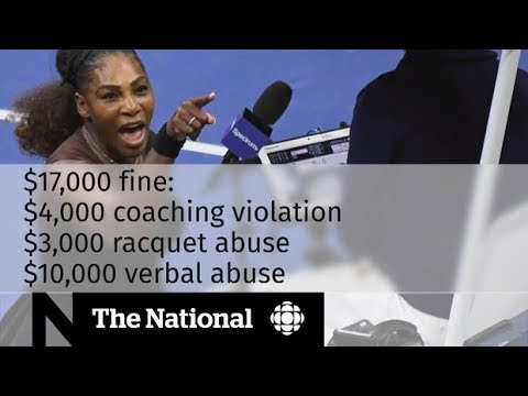 Serena Williams calls umpire's penalties sexist at U.S. Open