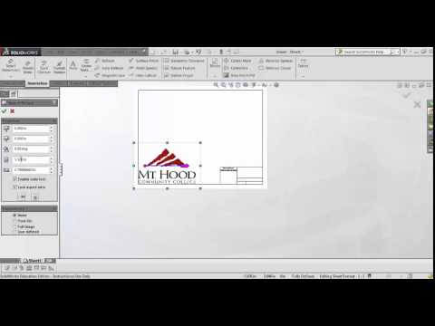 Solidworks Sheets Drawing Views And Dimensioning Doovi