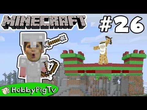 Minecraft Castle Challenge! Arrow Battle Against HobbyFrog Now on HobbyPigTV