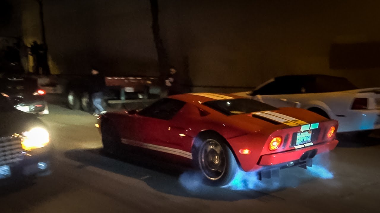 Bringing A  Ford Gt To A F Boy Show Crazy Donuts And Burnouts