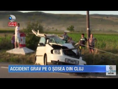 Stirile Kanal D (20.07.2017) - Accident grav pe o sosea din Cluj! Editie COMPLETA