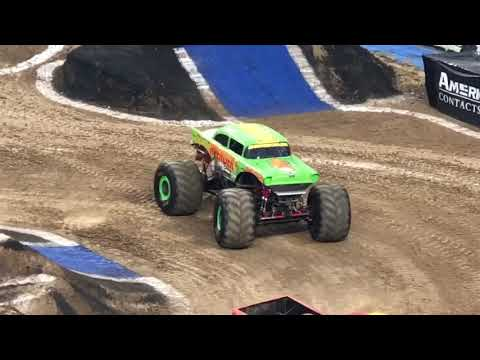 Monster jam Racing at Denver Mile high stadium 2019