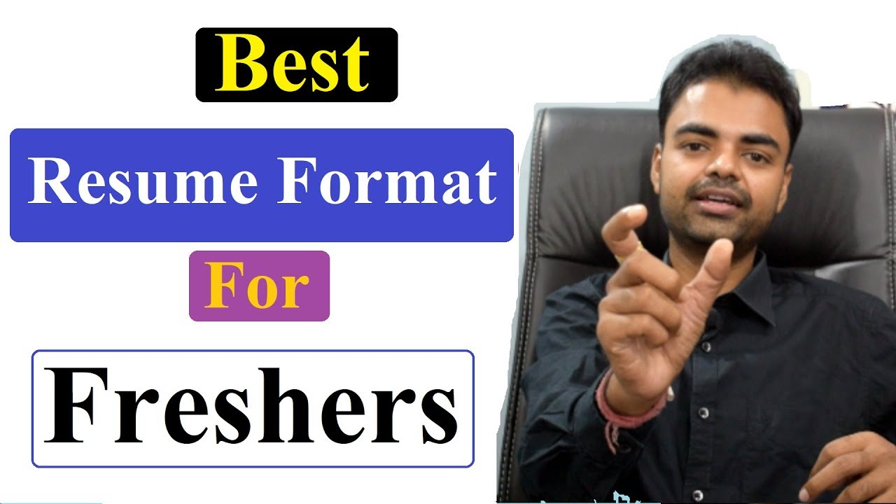Download Best Resume Format For Freshers Mechanical Computer