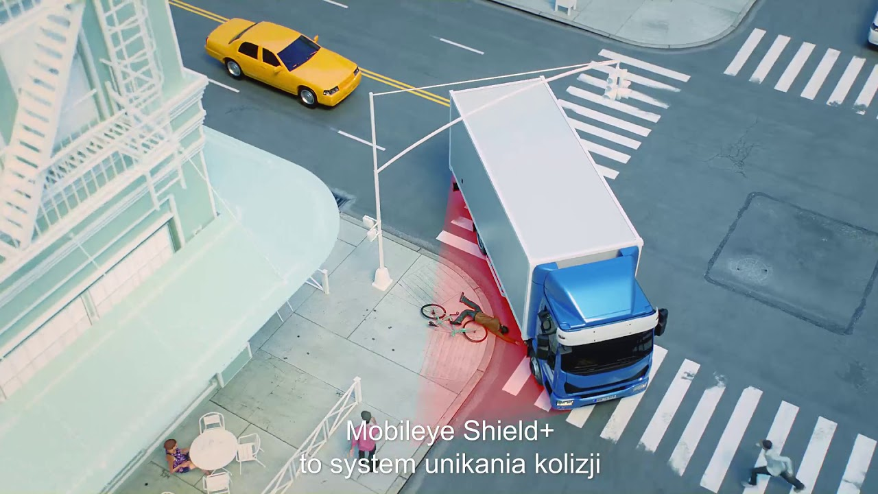 Mobileye Shield +™: System zapobiegania kolizjom drogowym dla ciężarówek i dużych pojazdów