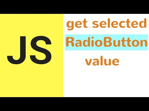 Javascript - How To Get Value Of Selected Radio Button In JS  [ with source code ]