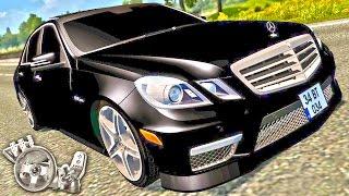 Euro Truck Simulator 2 - Mercedes Benz E63 AMG - Buzina maluca - Carro de patrão! - Com Logitech G27