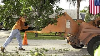 Man pulled into wood chipper: gardener's arm cut off in Fargo-style accident - TomoNews