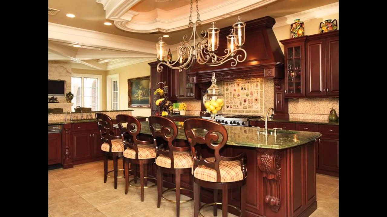 Big large luxury kitchens islands layouts plans designs for House plans with big kitchens and hearth rooms