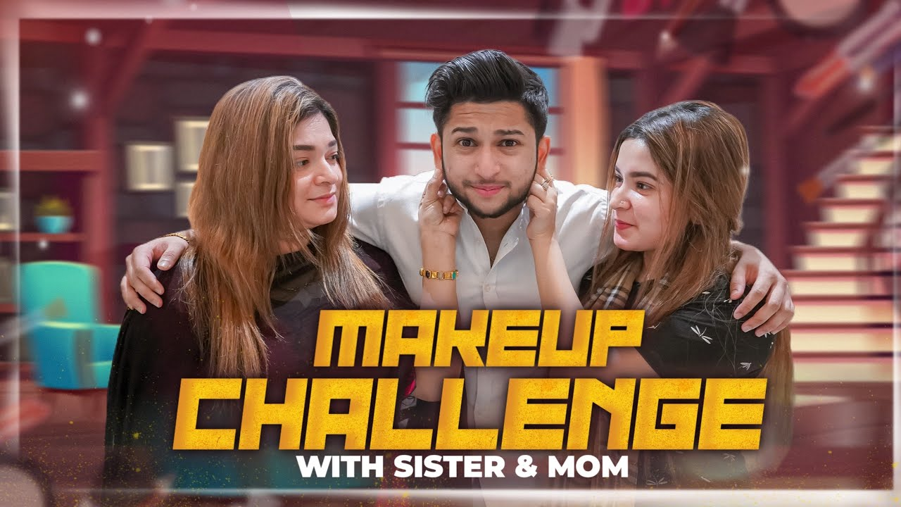 Makeup Challenge With Sister And Mom | Tawhid Afridi | Gold iPhone | Vlog 88
