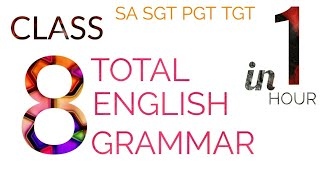 8th Class Total English Grammar In 1 hour I AP DSC 2018 ENGLISH