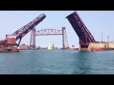 Alpena Ship entering the Calumet River, Chicago, IL.