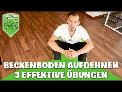 Beckenboden aufdehnen - 3 effektive Übungen