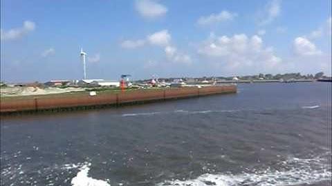 Mit der Fähre von Emden nach Borkum