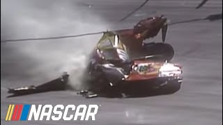 Michael Waltrip Crash at Bristol.  Official Footage.