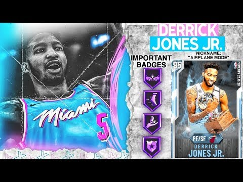 DIAMOND DERRICK JONES JR GAMEPLAY! DUNK CONTEST CHAMP DOMINATES IN NBA 2k20 MyTEAM