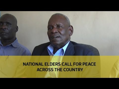 National elders call for peace across the country