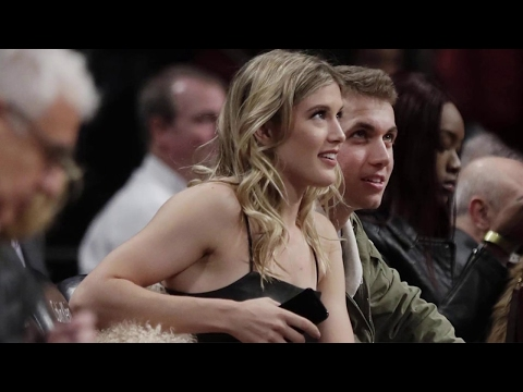 Genie Bouchard dating with boyfriend John Goehrke photos | Super Bowl pics 2017