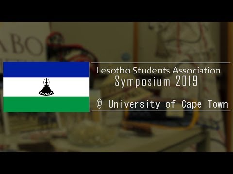 Lesotho Students Association Symposium 2019 at University of Cape Town (UCT)
