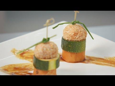 Канапе из овощей и куриного филе - рецепт Уриэля Штерна