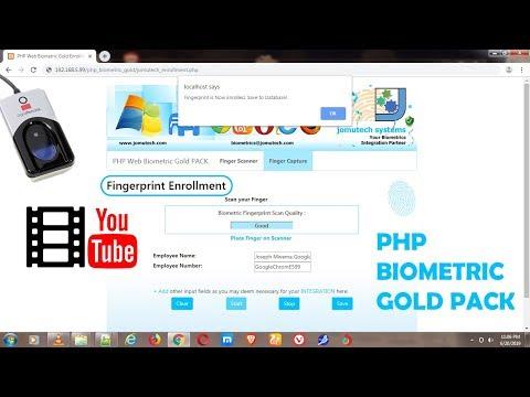 PHP Integration using DigitalPersona Biometric Scanner
