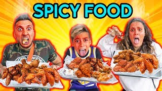 EATING Only SPICY FOOD For 24 Hours! (World's Spiciest Food Challenge) | The Royalty Family