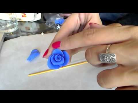 Tuto Fimo Realiser Une Rose Simple Et Rapide Youtube