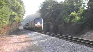 The Amtrak Crescent #19 w/ Big Moe & Horn Action! Lithia Springs,Ga 08-12-2011© (16x9)
