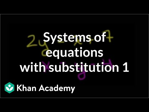 The Substitution Method   Systems Of Equations   8th Grade   Khan Academy