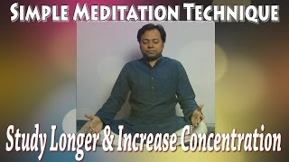 Simple Meditation Technique for Students | How to meditate?