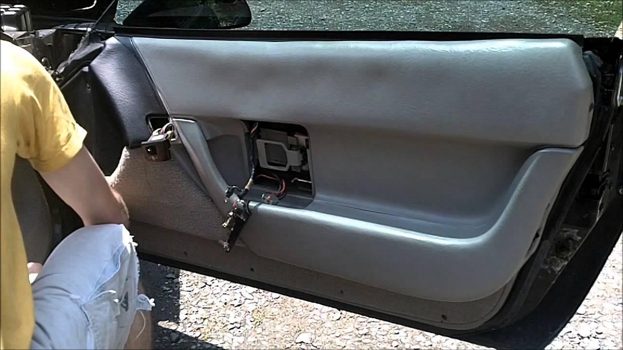corvette c4 door panel removal [ 1280 x 720 Pixel ]