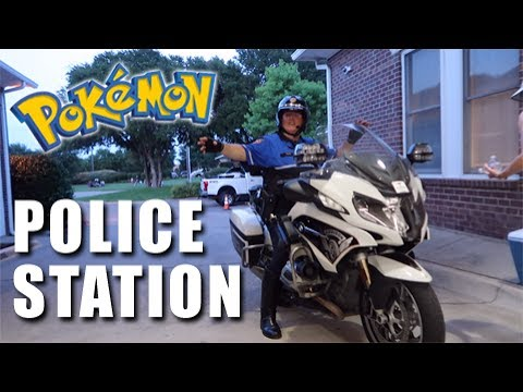 OPENING POKEMON CARDS AT A POLICE STATION!