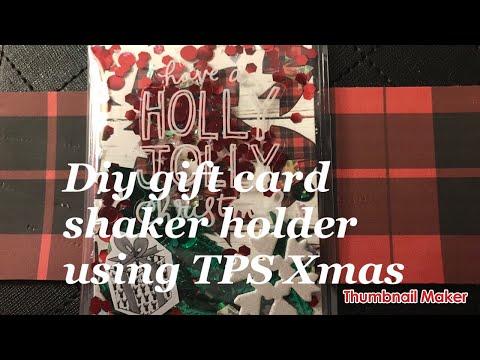 Diy Shaker Gift Card Holder ( The Planner Society Christmas Kit )