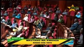 Kassim Majaliwa akiongea baada ya kuchaguliwa waziri mkuu