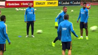 Fc barcelona us summer tour: first training session in san francisco