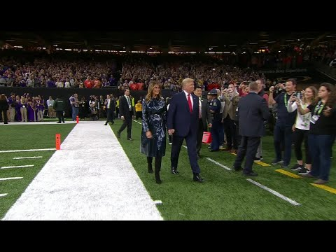 Coe Lewis - President Trump Gets Cheered On At The LSU Clemson Game