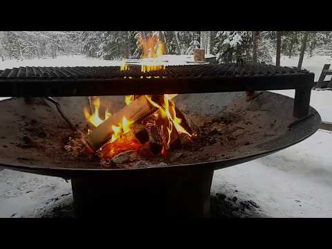 Outdoors in Finland, chilling by a fire
