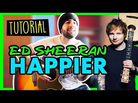 [Tutorial] HAPPIER - ED SHEERAN - Canzoni Facili da spiaggia - Accordi