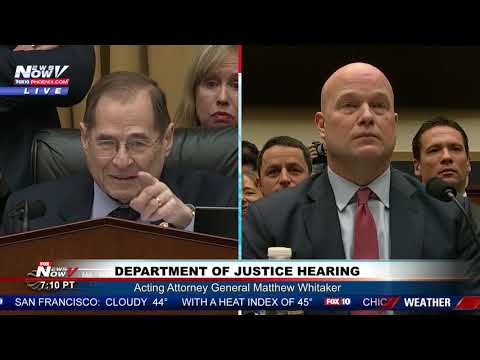 """YOUR 5 MINUTES IS UP"" Matthew Whitaker Reminds Democratic Congressman"
