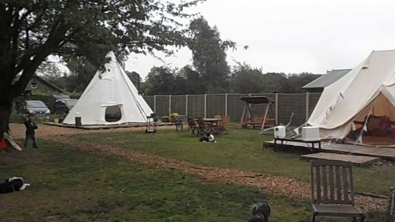 the natures path yurt and tipi campsite youtube
