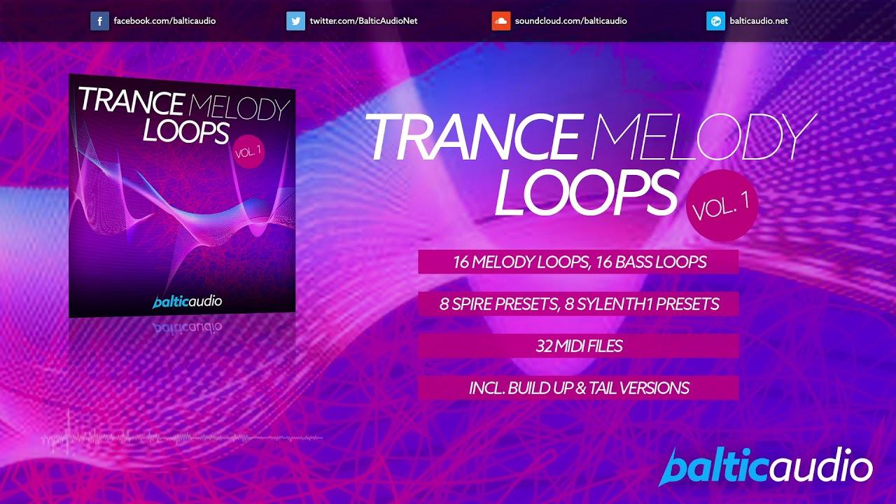 Trance Melody Loops Vol 1 (16 Melody & Bass Loops, 32 MIDIs, 8 Spire Presets, 8 Sylenth1 Presets