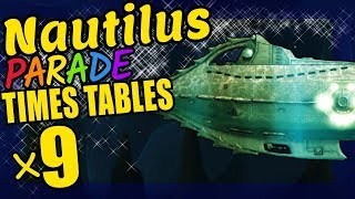Nautilus Submarine Teaching Multiplication Times Tables x9 Educational Math Video for Kids