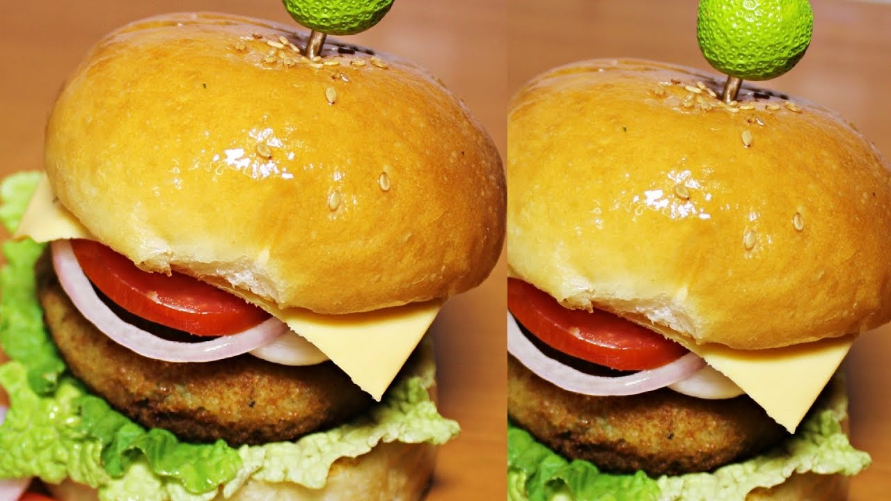 How to make burger at home veg
