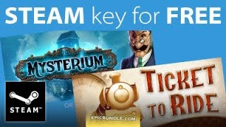 HOW TO GET  Ticket to Ride or Mysterium STEAM Key for FREE for a limited time only