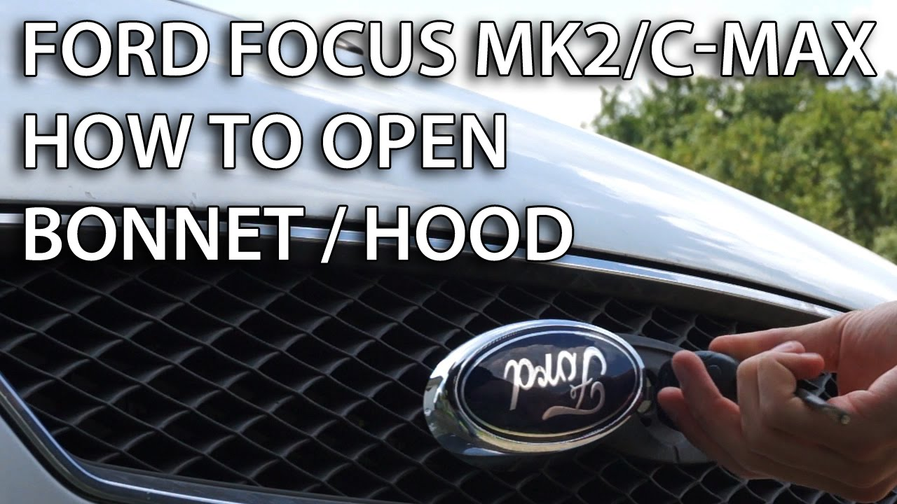 how to close ford focus se hood